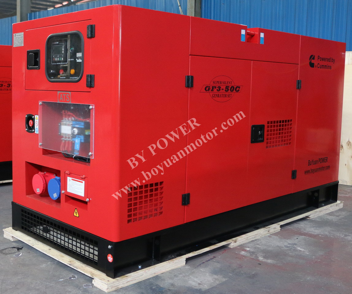 120kw 150kVA Cummins Soundproof Diesel Generator Set