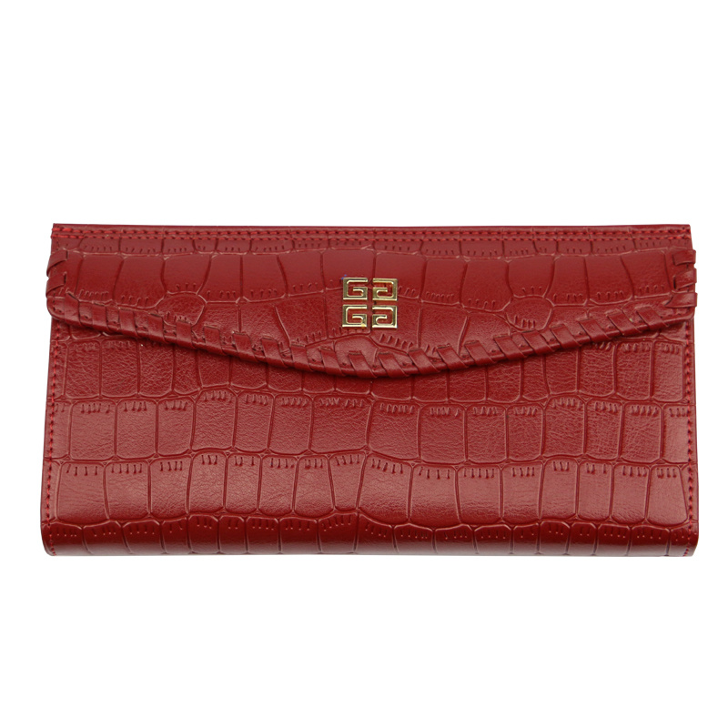 2017 Designed Women Classic Red and Black Crocodile PU Small Wallet (BDX-171007) pictures & photos