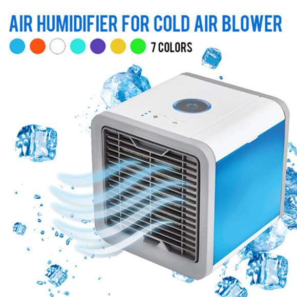 9bd1d0116 China USB Portable Air Conditioner Humidifier Purifier 7 Colors Light  Desktop Air Cooling Fan Mini Air Cooler for Office Home - China Mini Air  Cooler Air ...