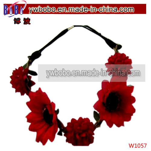 Christmas Gift Fashion Jewelry Headband with Rose Flower (W1055)