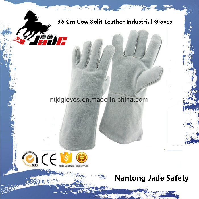 35cm Cowhide Split Industrial Safety Welding Leather Work Glove