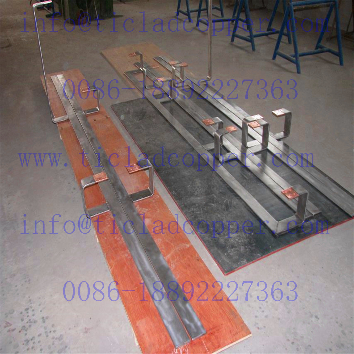 Precut Steel Clad Copper Hanger Bar Electrode for Surface Treatment pictures & photos
