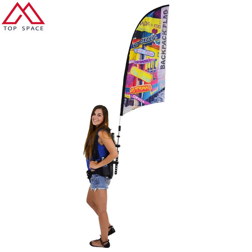 Promotion Cheap Flying Advertising Feather Backpack Flag Banner pictures & photos