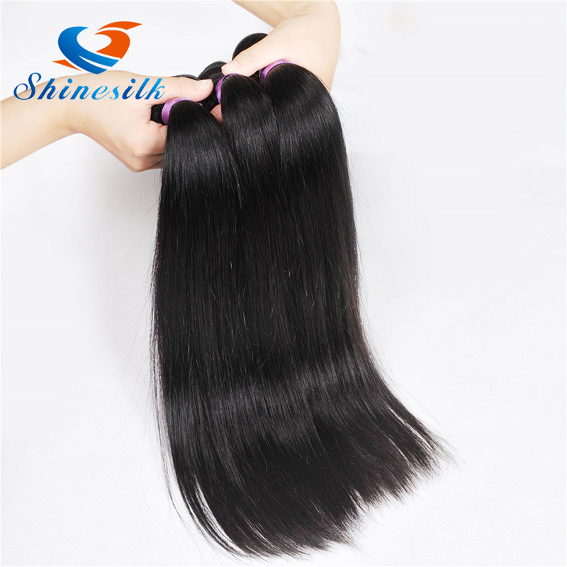 China Hair Products Brazilian Straight Hair Weave Bundles 3 Pcs