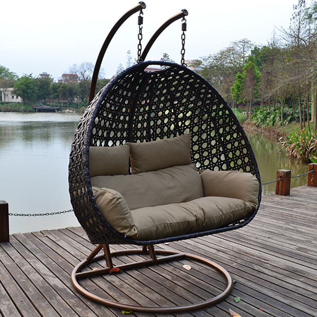 China Outdoor Rattan Wicker Cane Hanging Swing Chair