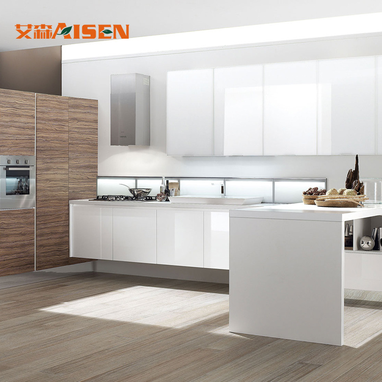 [Hot Item] German Kitchens Direct Design Integrated 2018 Lacquer Paint  Finished Kitchen Cabinet
