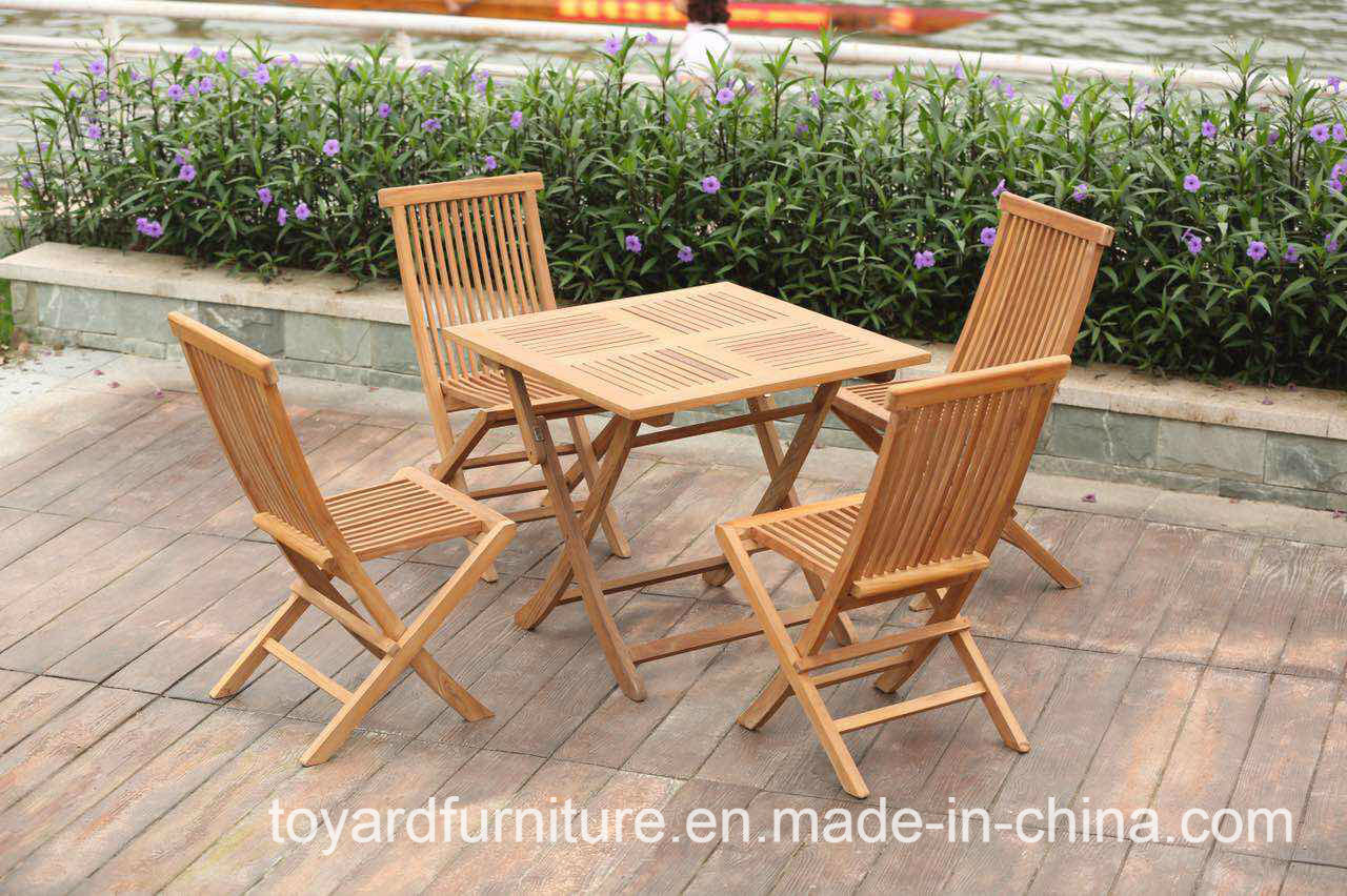 China Best Choice Outdoor Garden Furniture Patio Teak Wood Folding Table And Chairs China Outdoor Chairs Garden Chairs