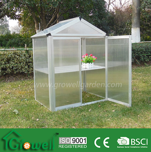 Mini Greenhouse with PC Panels and Aluminium Frames (MB323)