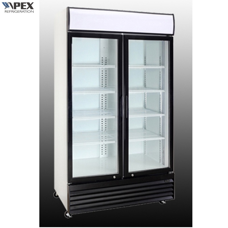 China Two Swinging Glass Door Commercial Refrigerator Cooler Photos