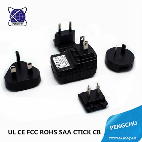 12W 6V AC DC Adapter 6 Volt EU AU US UK Plug Universal Power Adapter with USB Jack pictures & photos