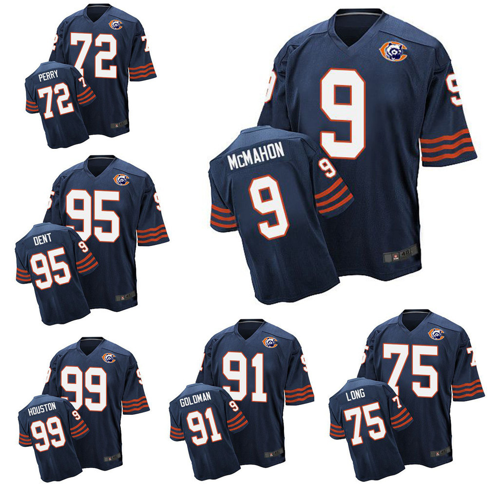 [Hot Item] Chicago Kyle Long Richard Dent William Perry Throwback Football Jersey
