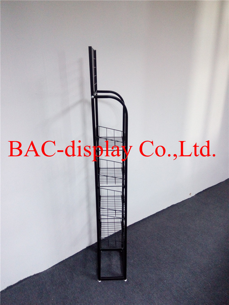 Floor Standing Metal Wire Food Display Rack for Supermarket pictures & photos