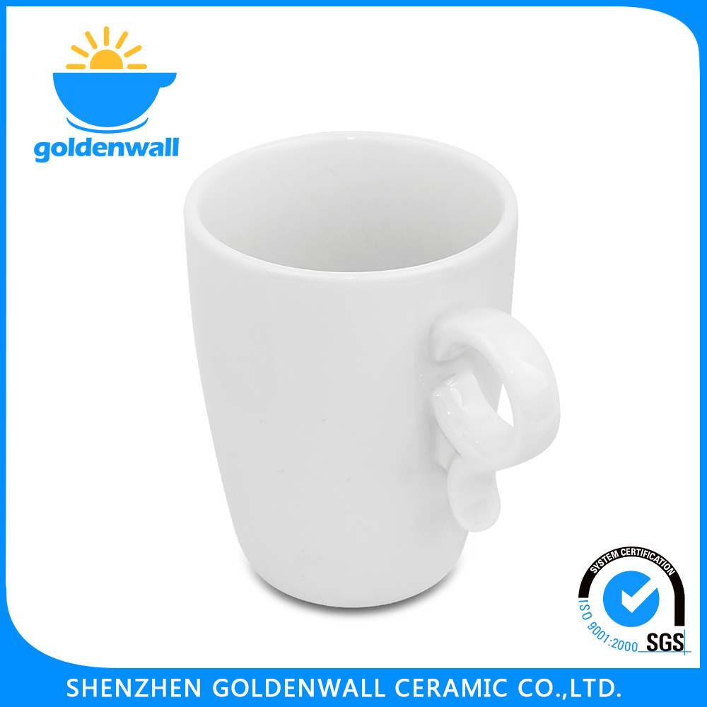 Exquisite Surface 250ml White Coffee Porcelain Mug