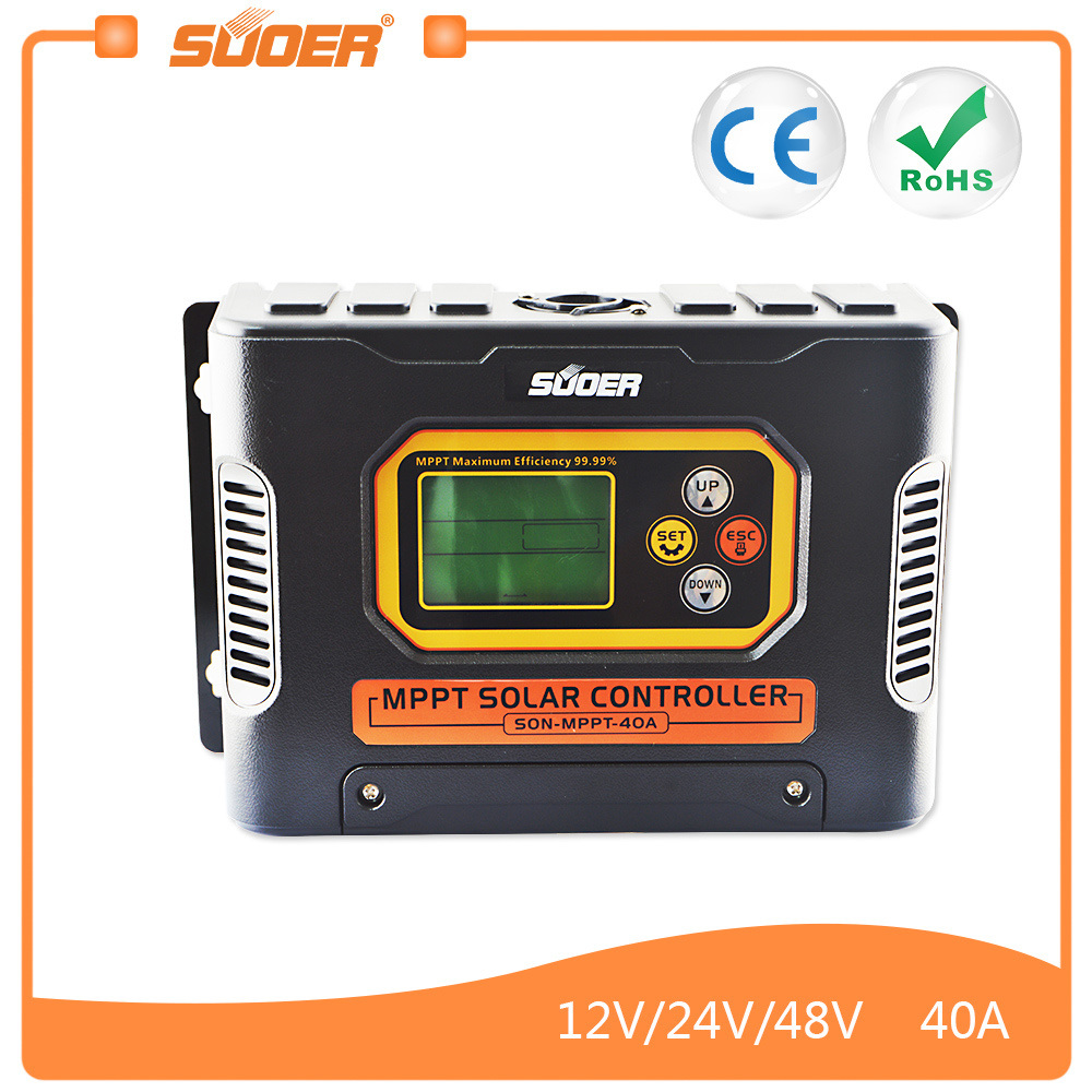 China Suoer 12v 24v 48v 40a Mppt Solar Charge Controller Son Wiring Schematic Also Circuit Charger