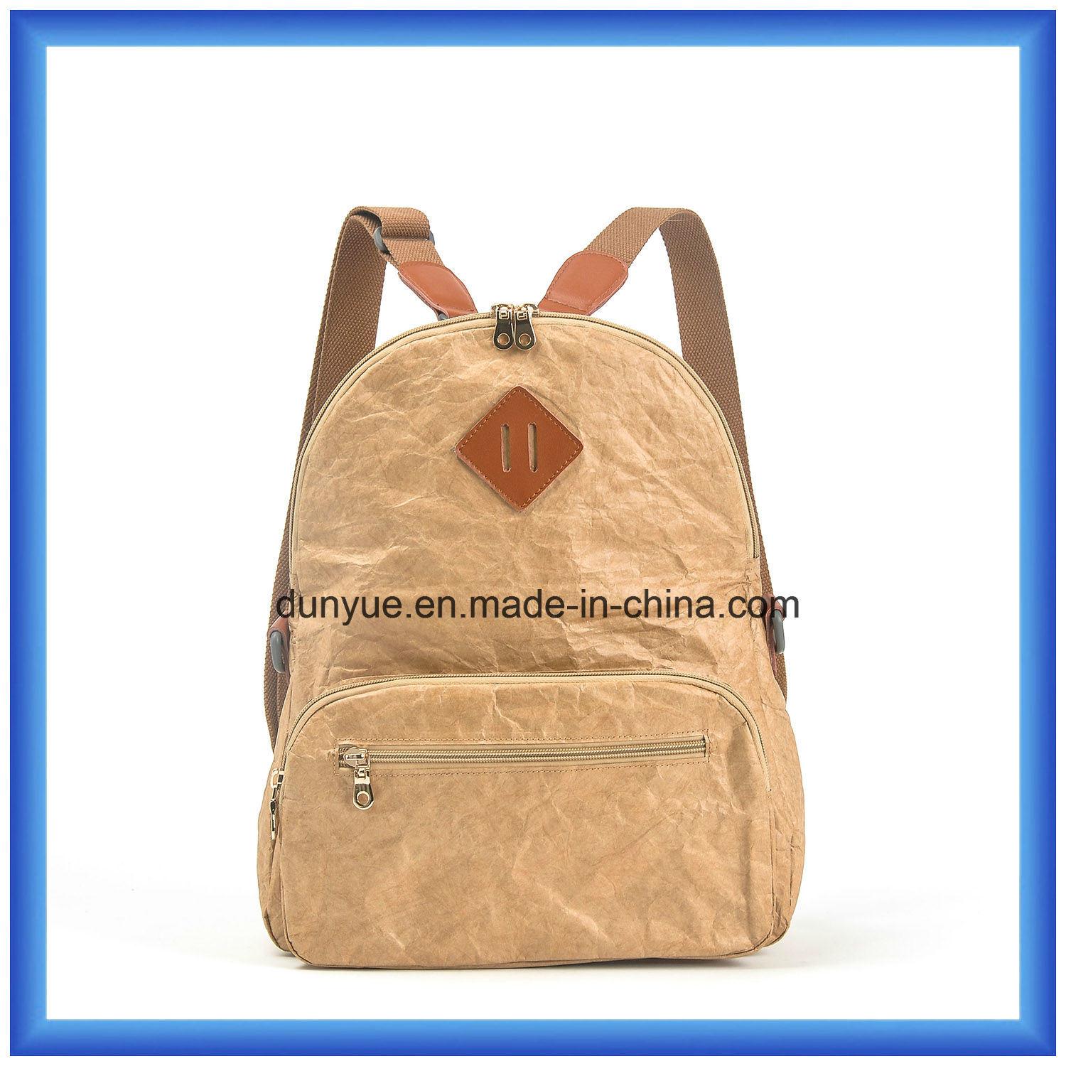 3baa36086fb6 China Factory Customized New Material DuPont Paper Outdoor Backpack ...