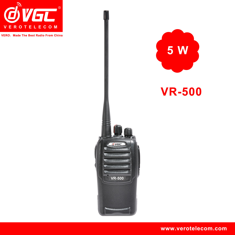 China Vr 500 5 Watt Uhf Vhf Two Way Radio 16ch Walkie Talkie Tv Amplifier