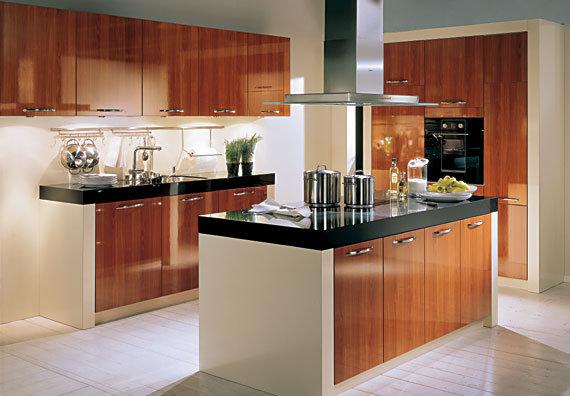 China MDF PVC Thermofoil Kitchen Cabinet - China Euro ...