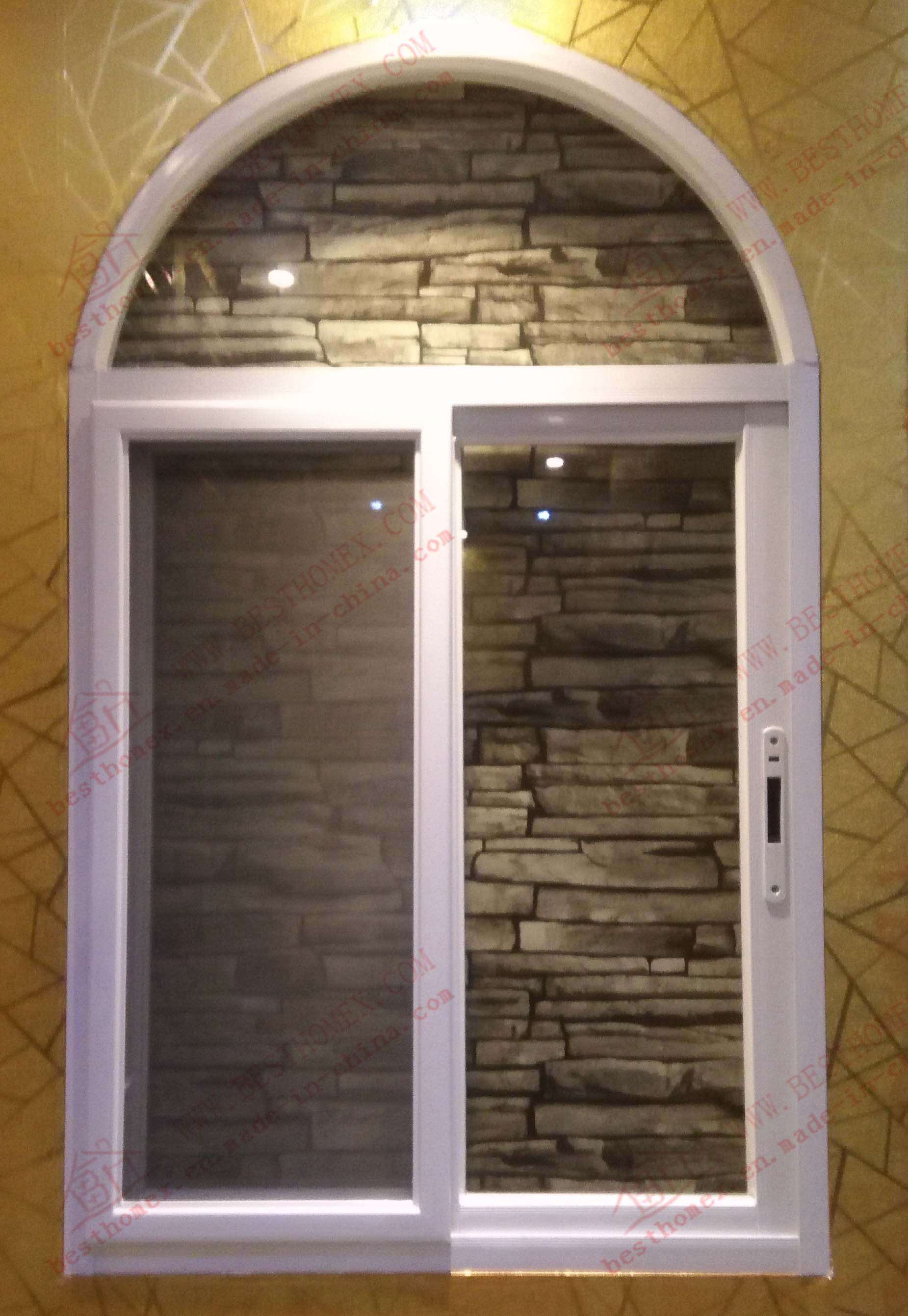 China American Standard Aluminium Arched Sliding Window