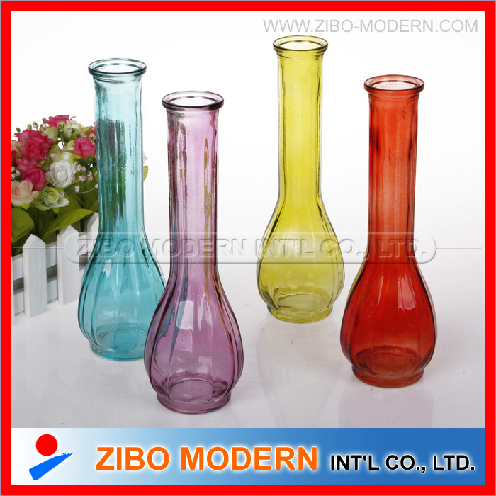 225 & [Hot Item] Colored Glass Vases Sprayed Color Flower Vases Used Home Decorate