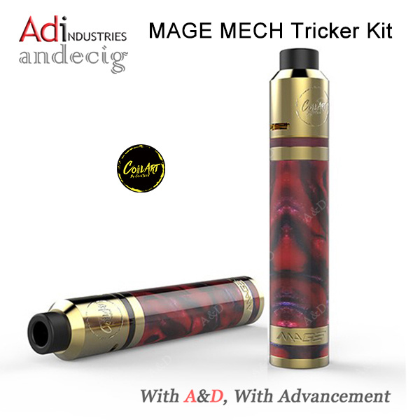 Coilart Mage Mech Tricker Kit 24k Gold Plated Mage Mech Mod