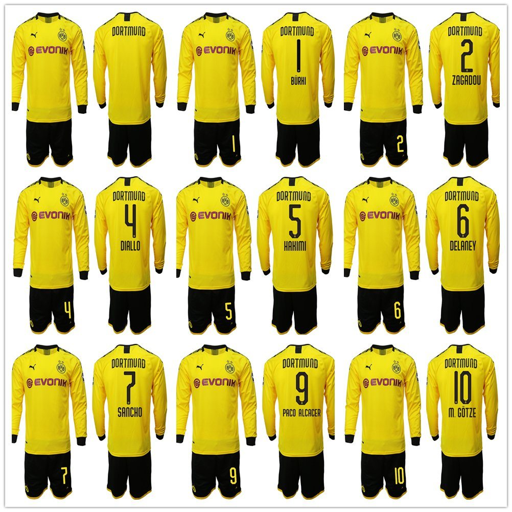 new arrival 78d12 2f270 [Hot Item] Borussia Dortmund Soccer Jersey 2019 2020 Football Kit Top Shirt