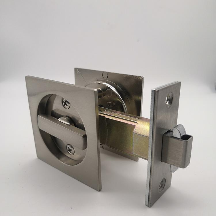 China Square Tubular Keyed Privacy Bathroom Sliding Door Pocket Door Lock China Sliding Pocket Lock Privacy Sliding Door Lock