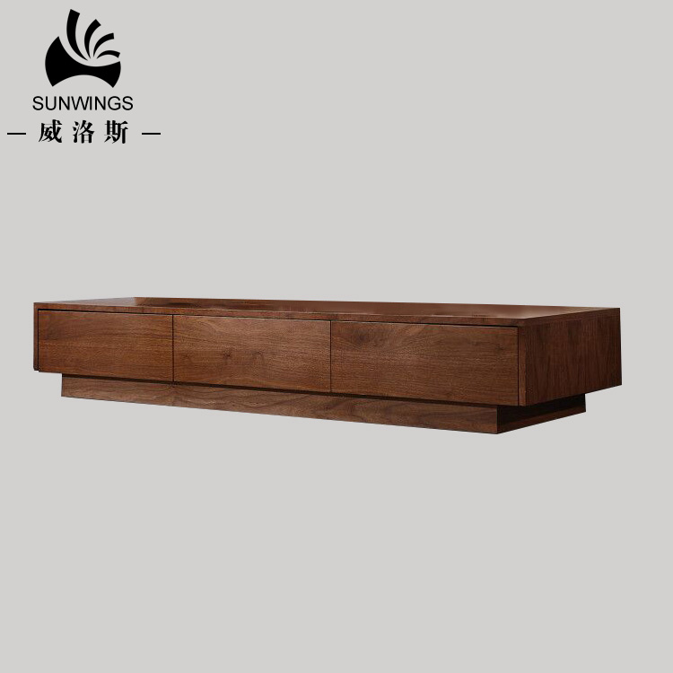 Furniture Mdf Veneer Wooden Tv Stand