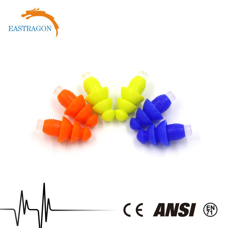 Wholesale Hearing Protection Comfortable Silicone Earplugs pictures & photos