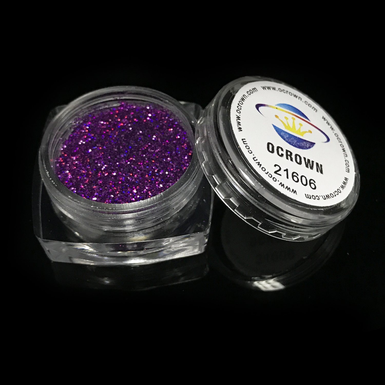 China 21606 Holographic Purple Laser Nail Nail Art Glitter Dust ...