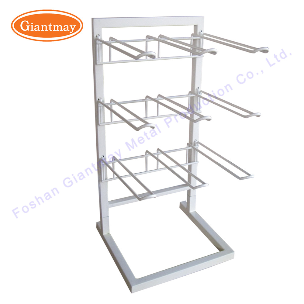 2 Tier Wire Metal Table Counter Top Spinner Shelves Display Rack For Small S