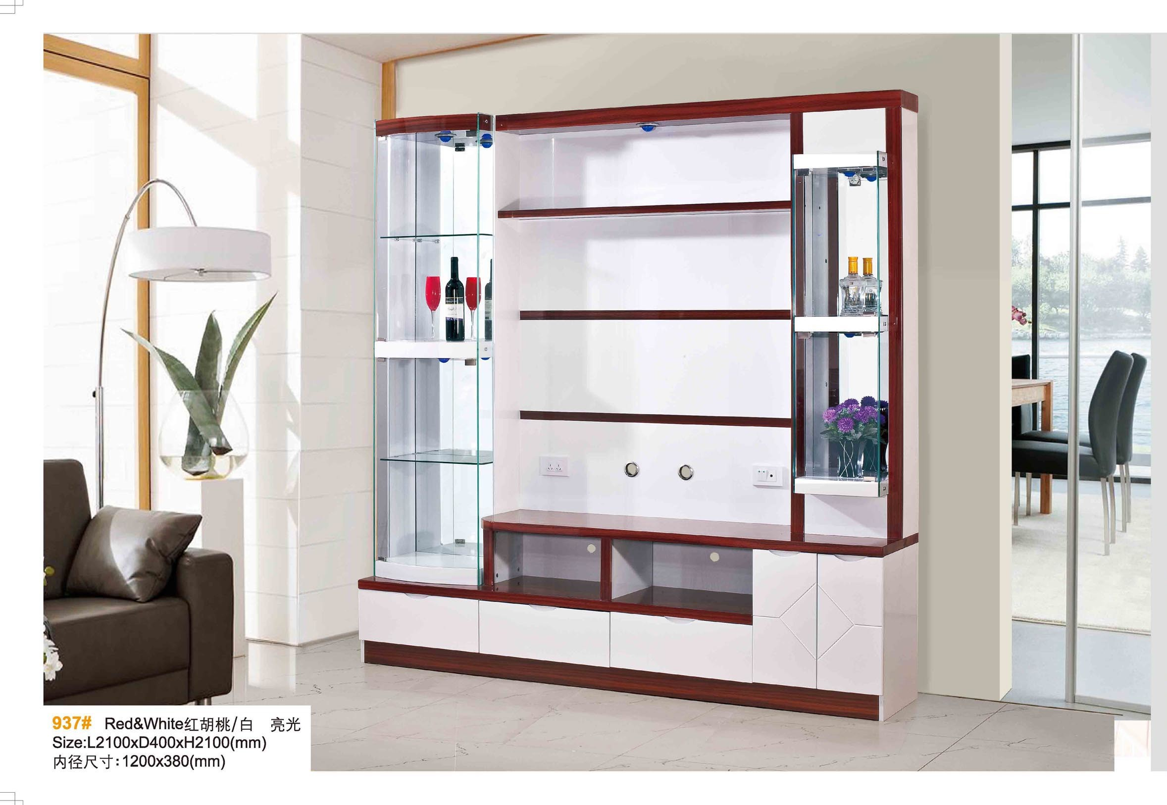 China Home Use Led Tv Stand With Side Showcase China Tv