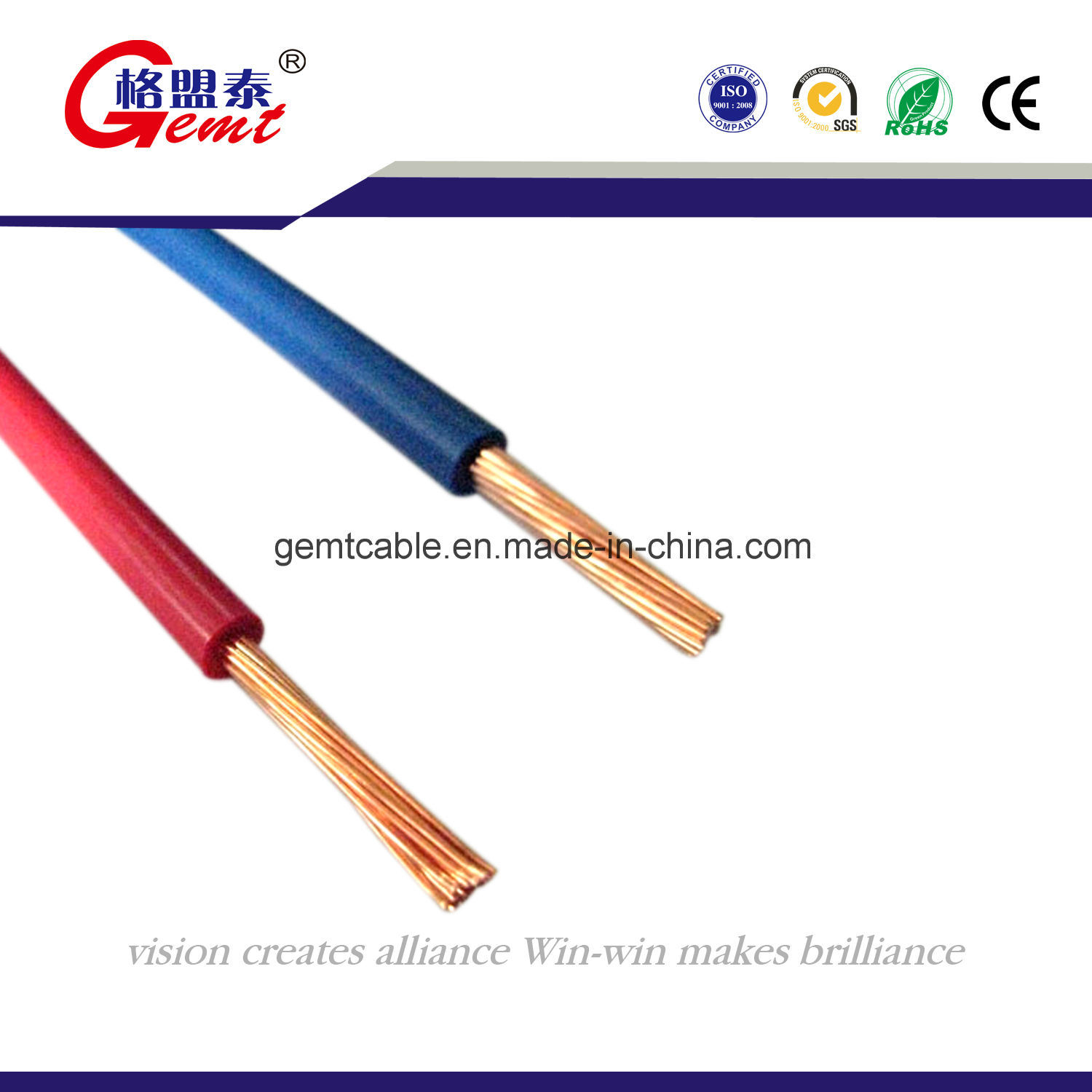 China Electrical Wire PVC Insulation Bvr Cable with SGS Approved ...