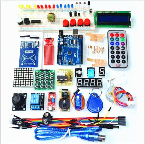 [Hot Item] New! Super Mega 2560 Starter Learning Kit for Arduino 1602LCD  RFID Relay Motor Buzzer-Arduino Kits