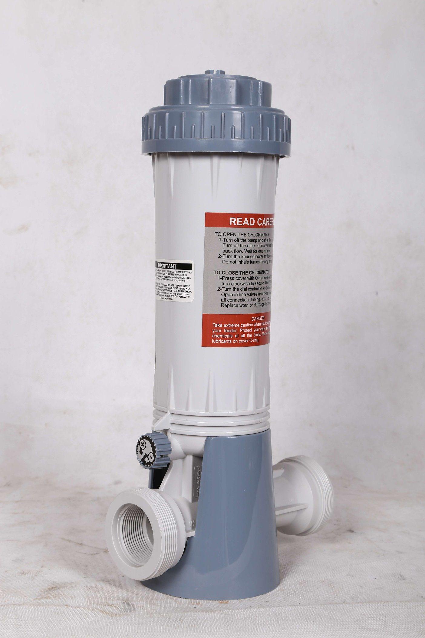 automatic outdoor deluxe floating garden com chlorinator dp amazon chlorine feeder