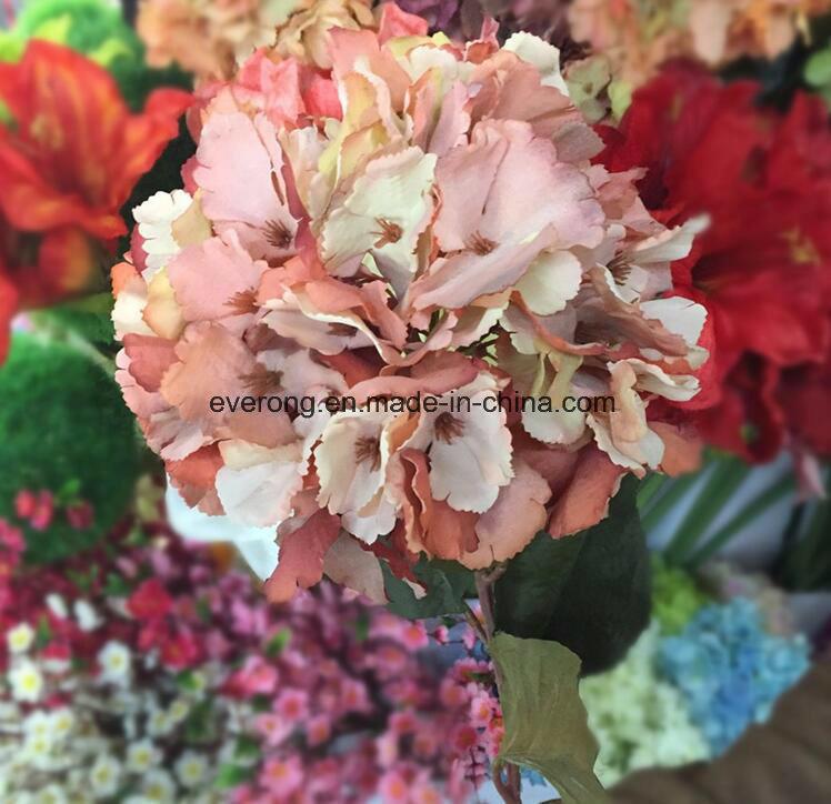 China Artificial Hydrangea Stem Canada Wedding Bouquet Silk Faux ...