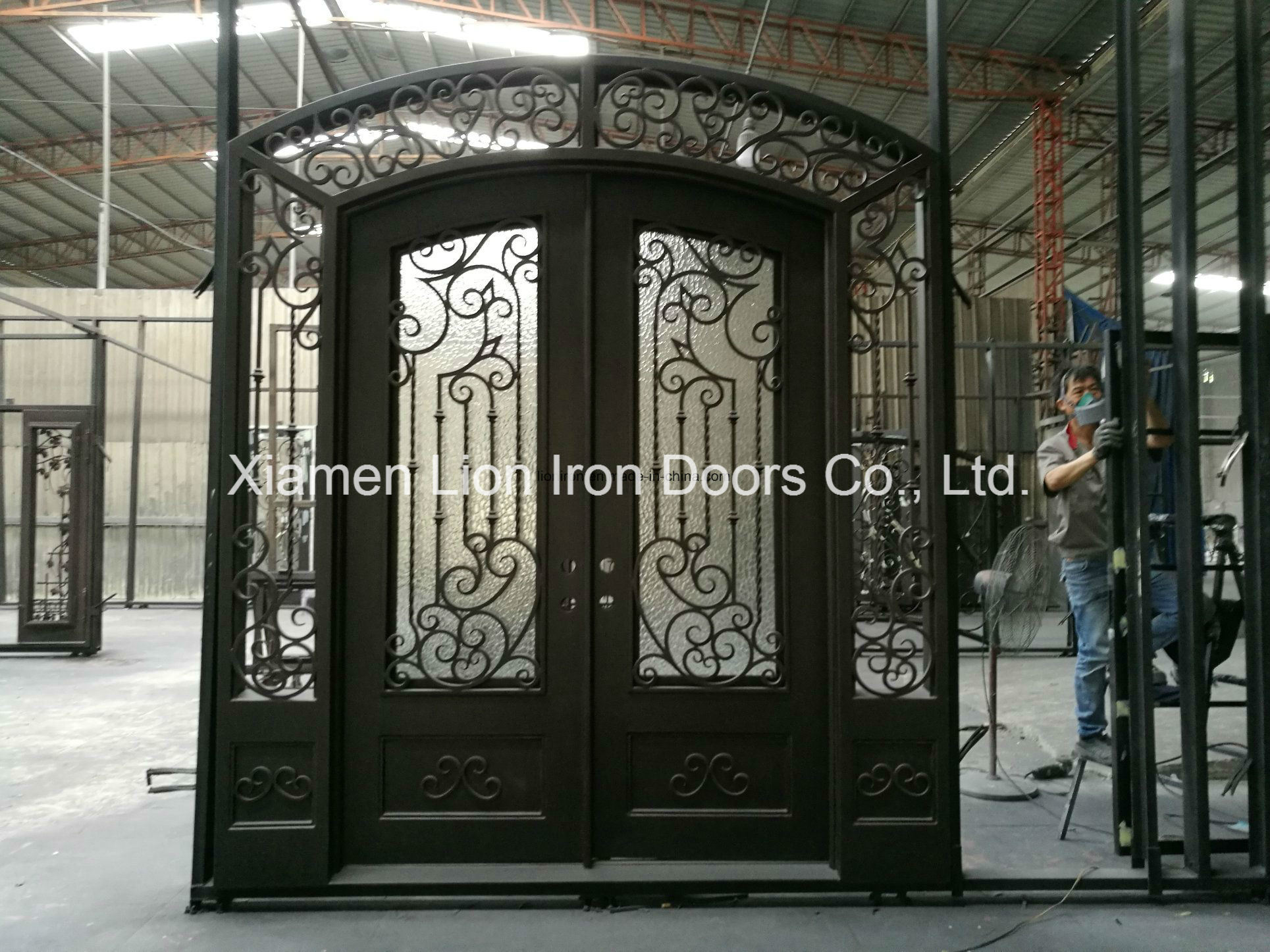 China Clic Designs Wrought Iron Double Front Door With