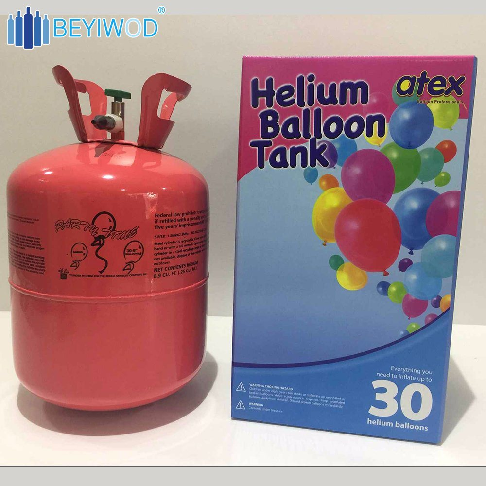 China Small Disposable Helium Gas Cylinder, Helium Tank for