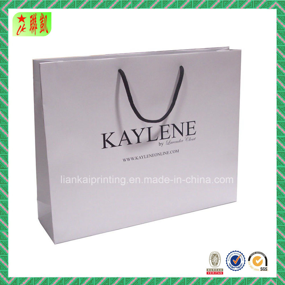 Custom Laminated Paper Shopping Bag with Logo