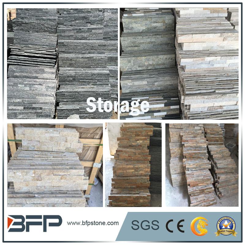 Black Grey Yellow Rusty Natural Stone Slate Floor Tile For Indoor Outdoor Flooring Wall