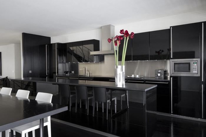 China Modern Acrylic High Gloss Mdf Simple Door Design Kitchen Set