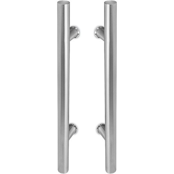 China H Type Double Side Glass Door Pull Handle Stainless Steel