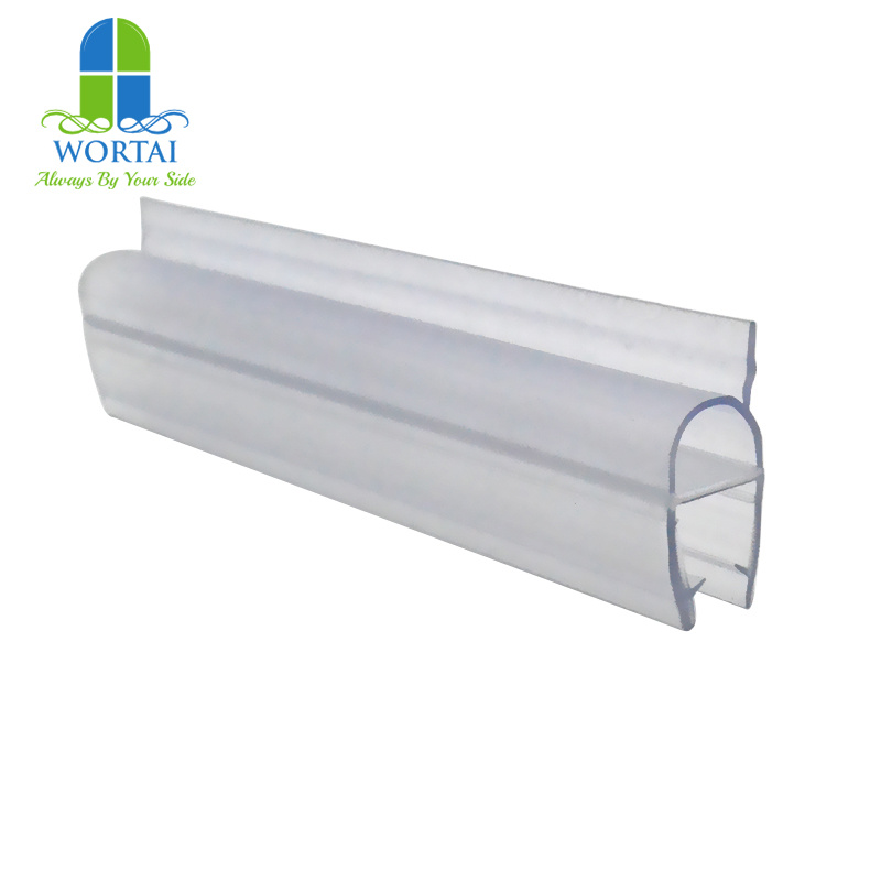 China Pvc Plastic Pe Clear Silicone Rubber Round Shower Door Bottom