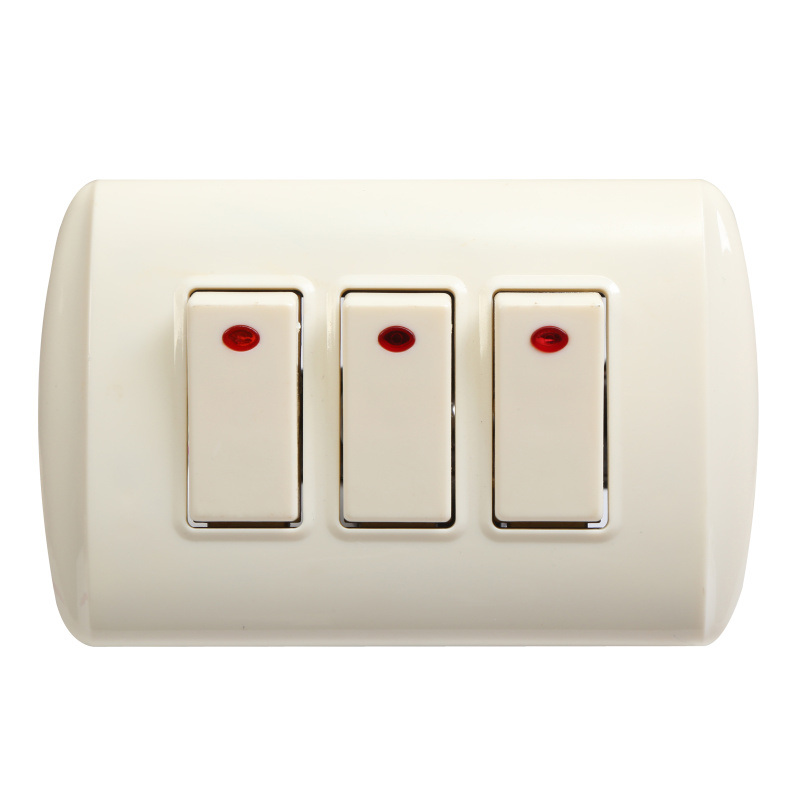 China ABS 3 Gang 3 Way Electrical Wall Switch with Light - China ...