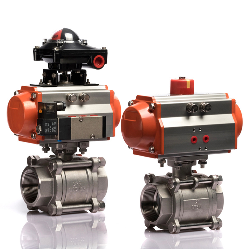 Dn25 Single Acting 2 Way Pneumatic Actuator Ball Valve pictures & photos