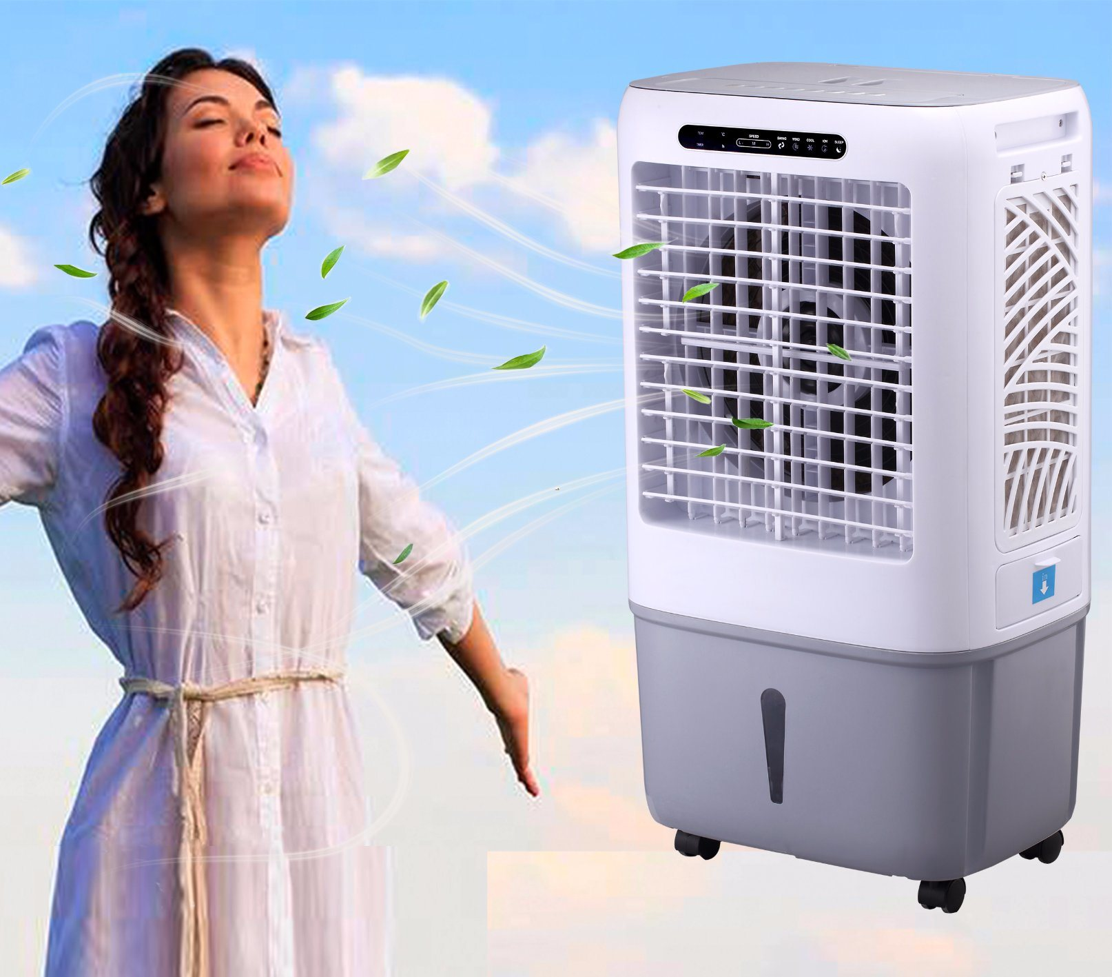 New Design Residential Evaporative Air Cooler with 35L Water and 3000m3h Airflow