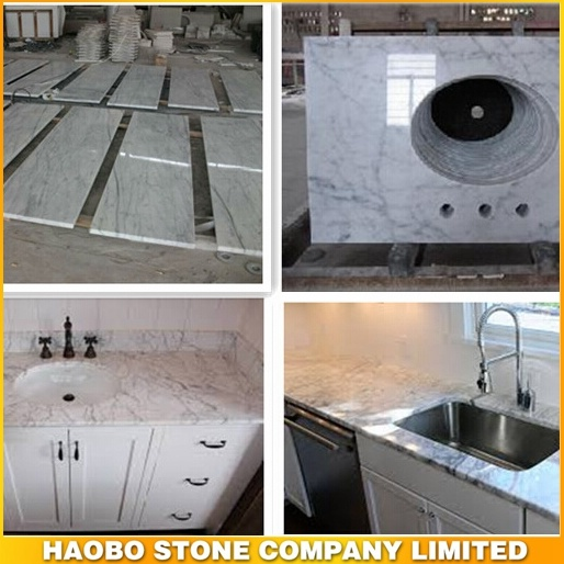 Snow White Marble Prefabricated Vanity Top/ Countertops Cheap