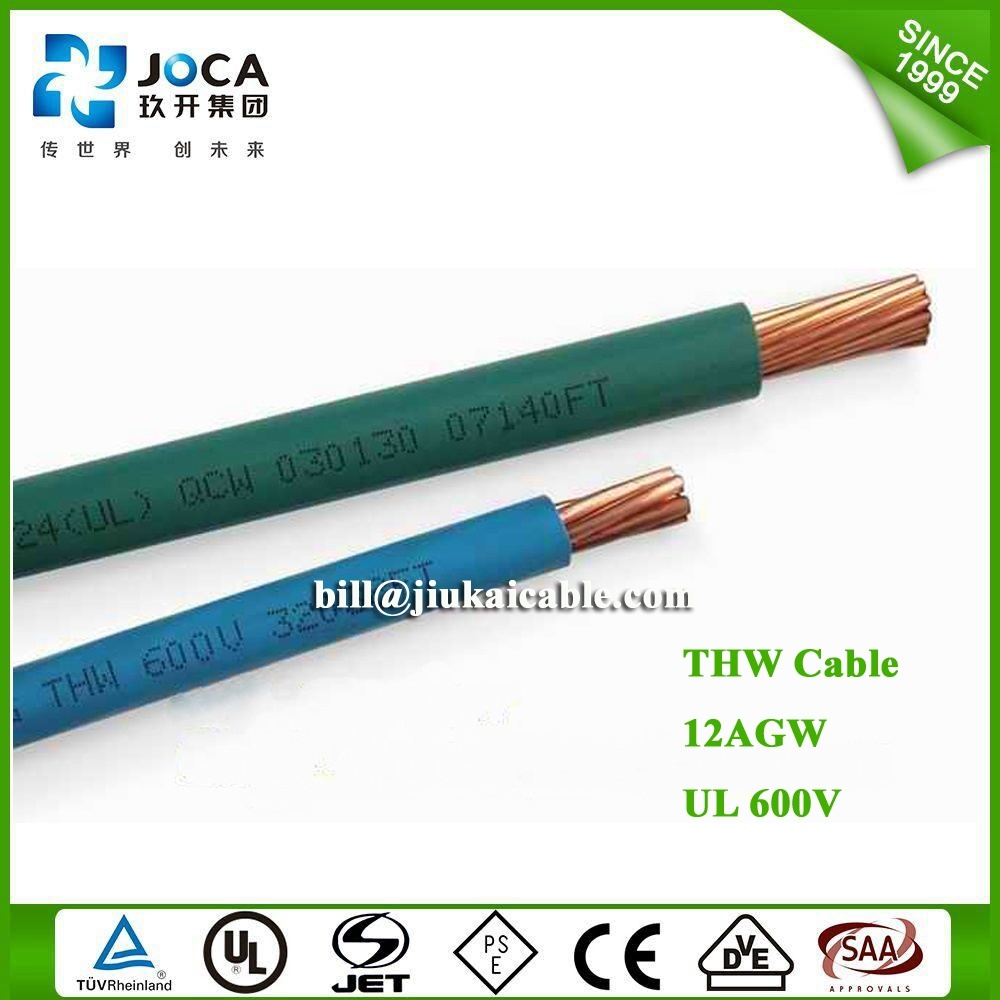 China UL 600V Type PVC Insulated Electrical Thw Building Wire ...
