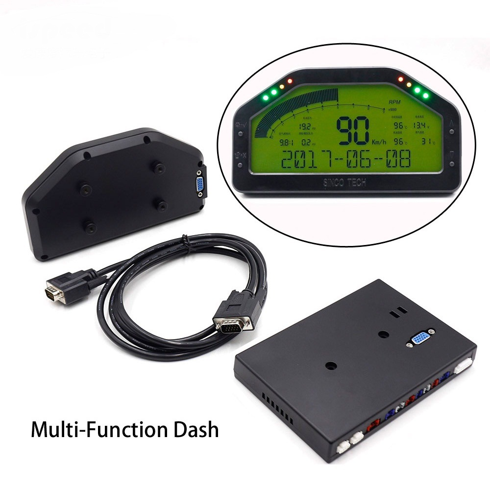 Do908 Dash Race Display Sensor Kit, Dashboard LCD Screen Wire Harness,  Gauge Meter