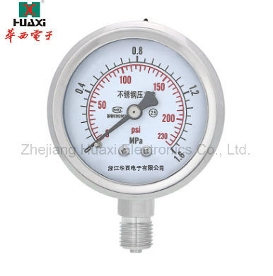 [Hot Item] Hot Sale High Quality Clear to Read Water Manometer Silicone Oil  Filled Pressure Gauge