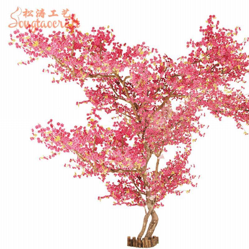 China Artificial Simulation Peach Blossom Flower Tree Big Tree For Home Decor China Artificial Tree And Big Tree Price